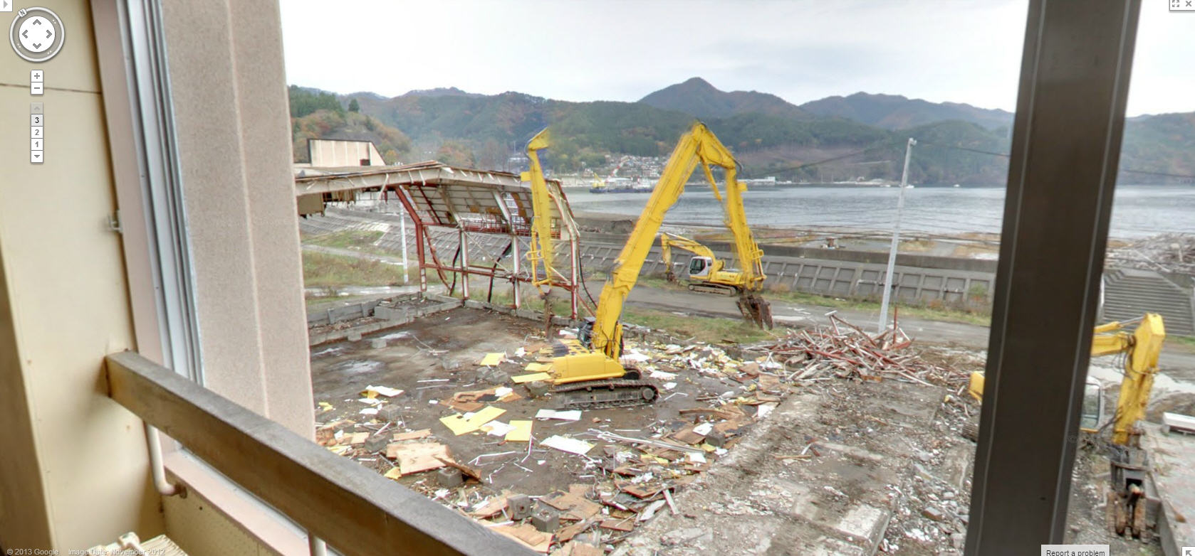 Street View of a Fukushima Ghost Town