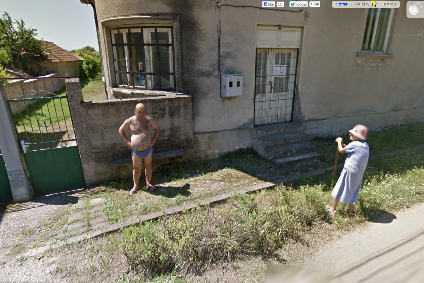 Is this old bulgarian fellow wearing underwear