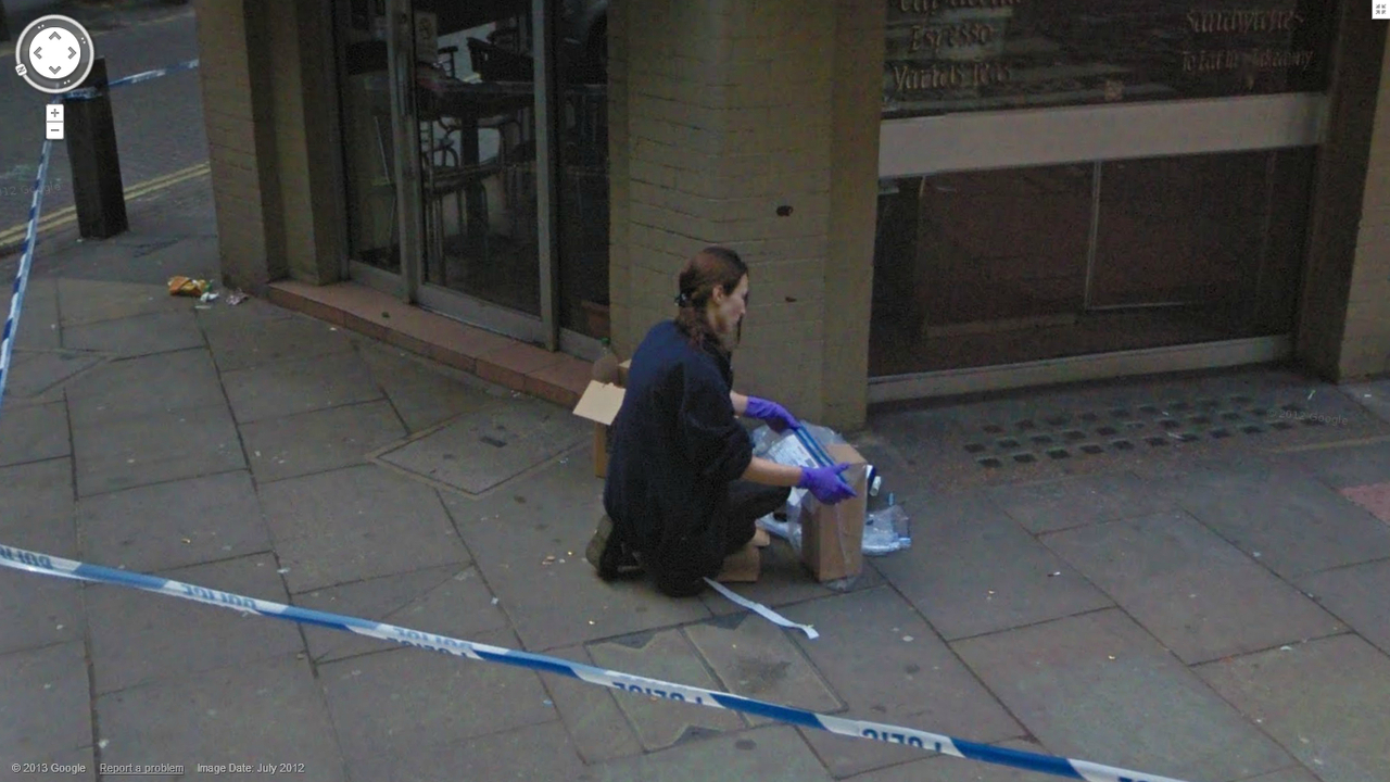 Google Street View Captures CSI in Action