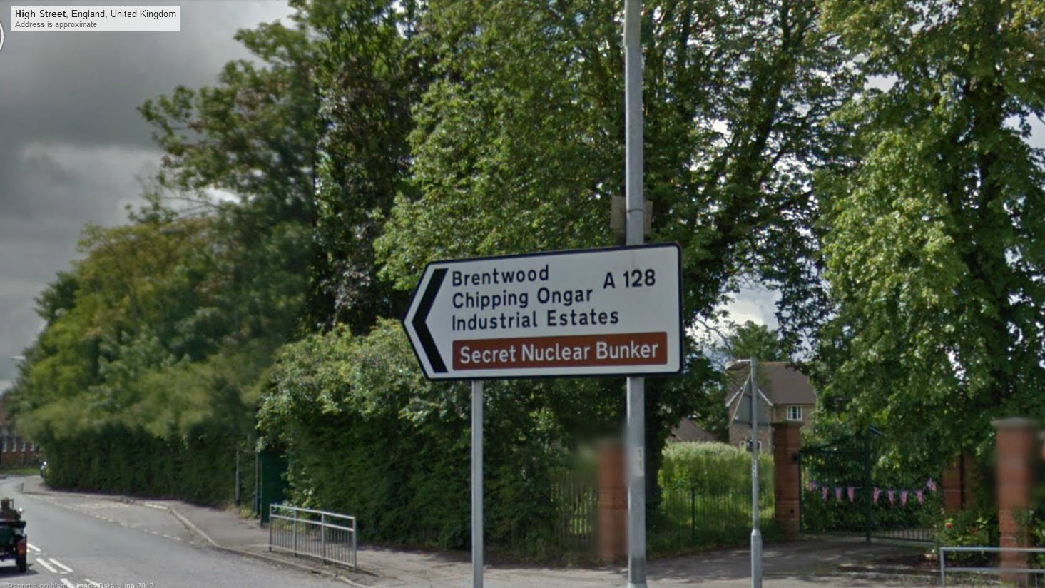 This way to the Secret Nuclear Bunker.  Psst – don't tell anyone!