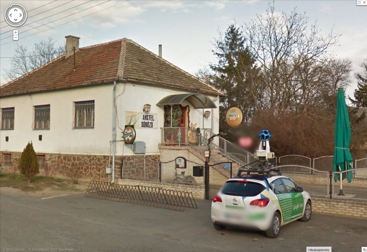 Hungarian Google Street View Driver Stopped for a Beer