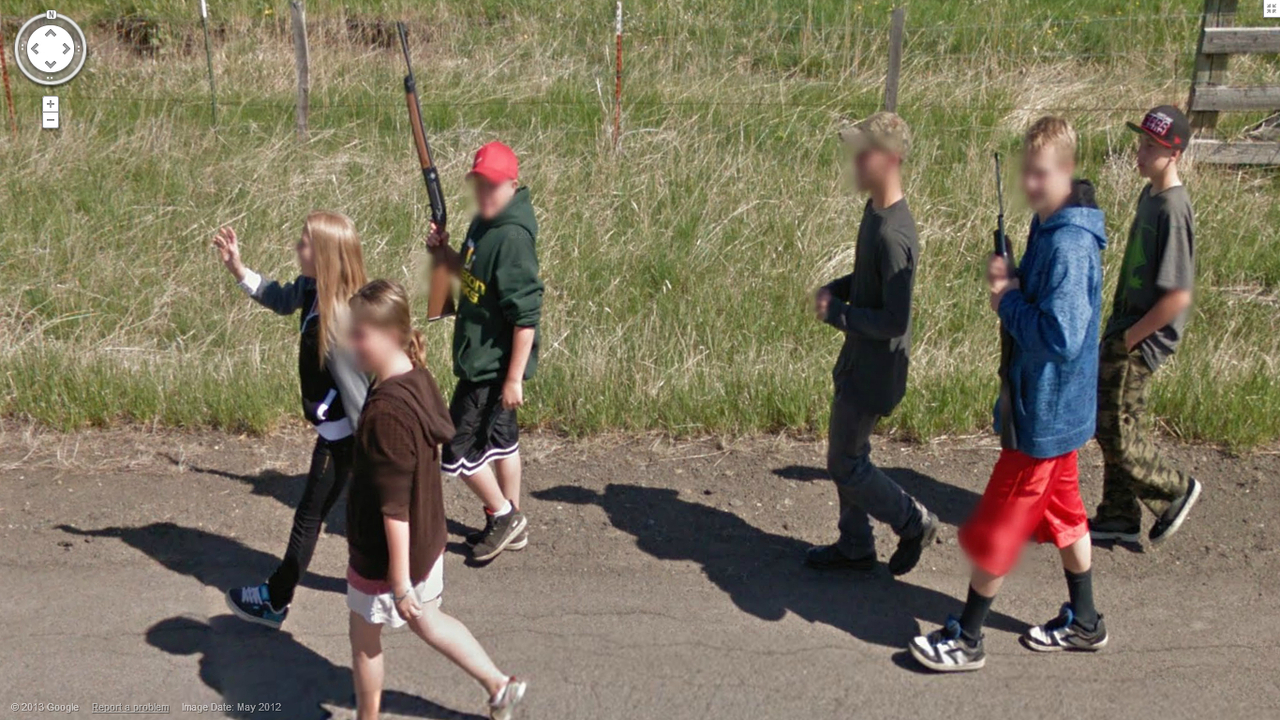 Since when do teenagers walk around with guns?