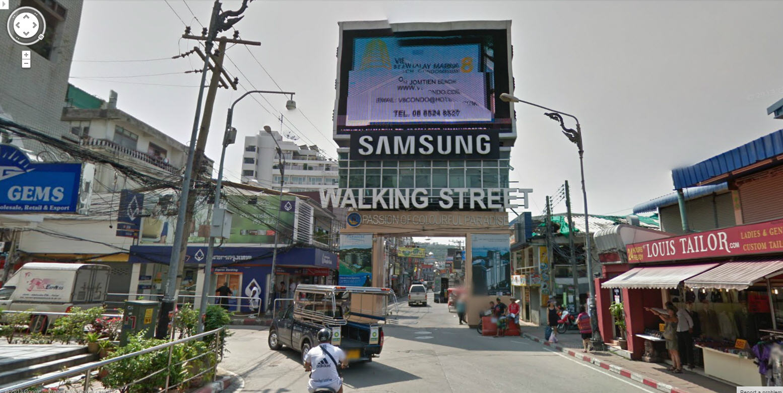 Google Street View Thailand Update – Now Includes the Pattaya Sin Bin