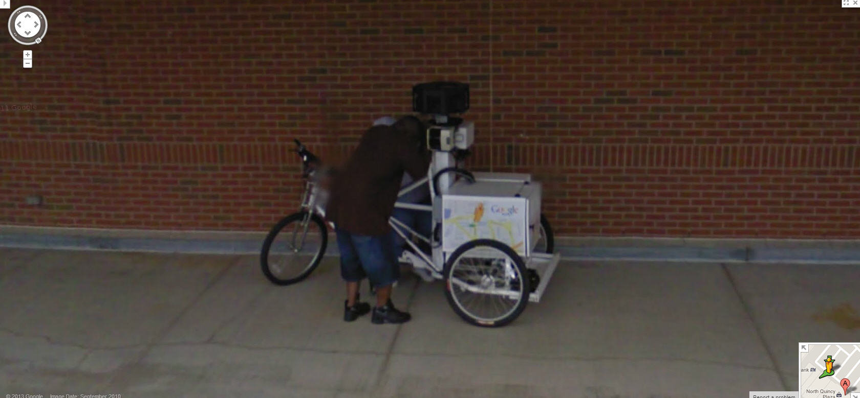 The Google Street View Trike Visits a Strip Mall