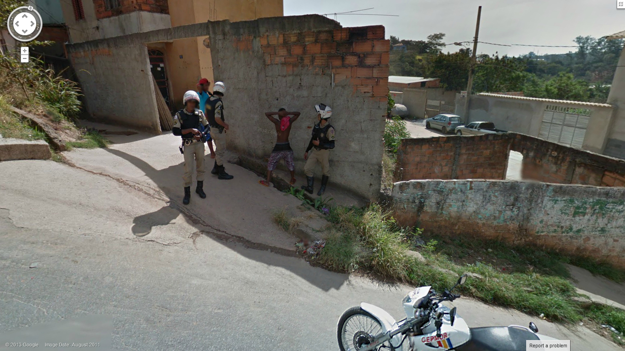 Another live arrest on google street view