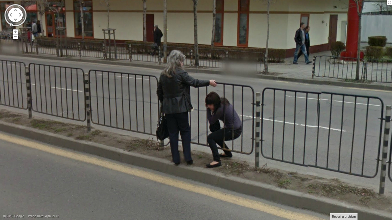 Stuck In A Fence Google Street View World Funny