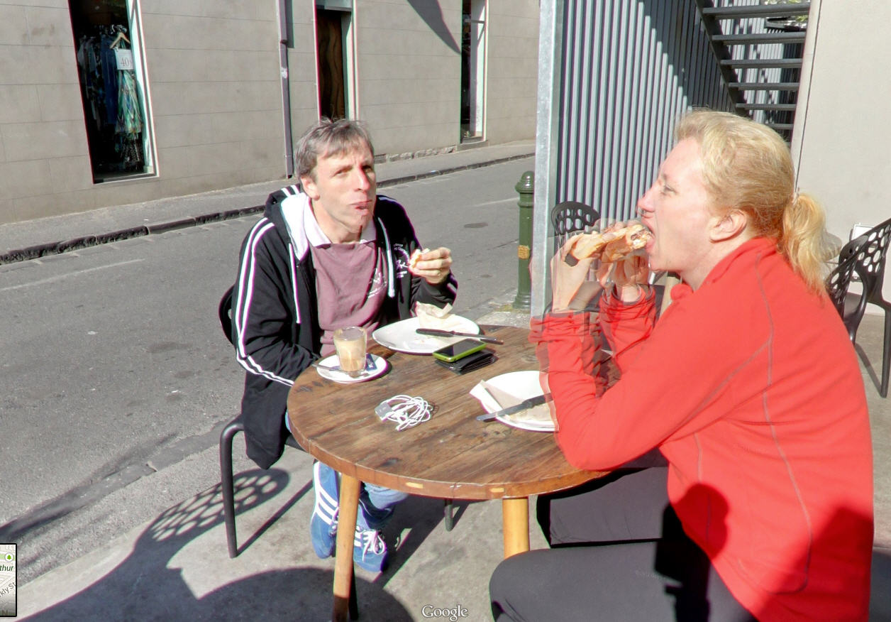 Caught Stuffing Your Face by Google Street View – Priceless