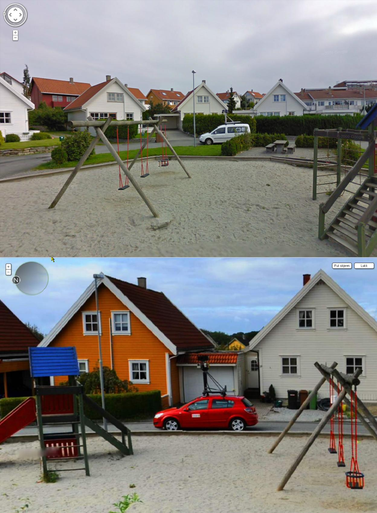 Google Street View Captures the Competition and Vice Versa