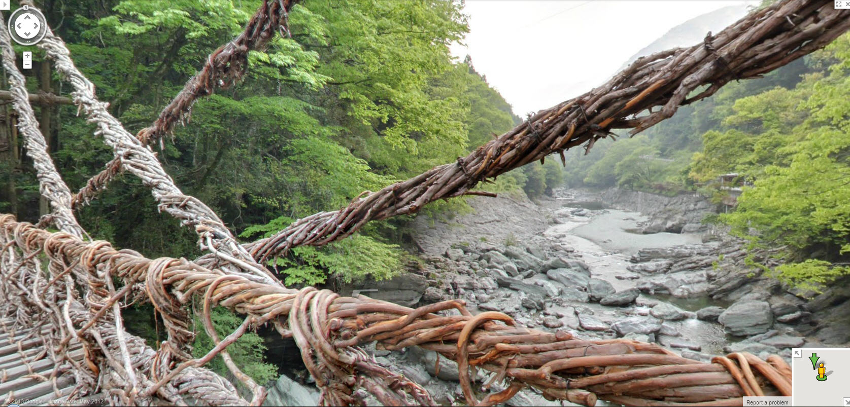 I can't believe this bridge is made out of sticks!