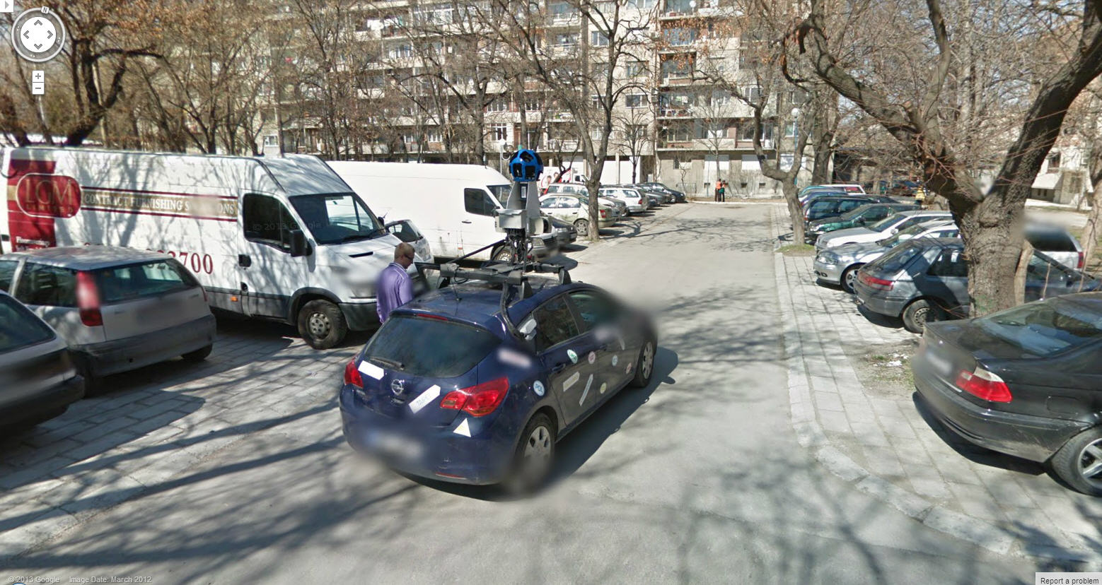 Google Street View Car and Driver