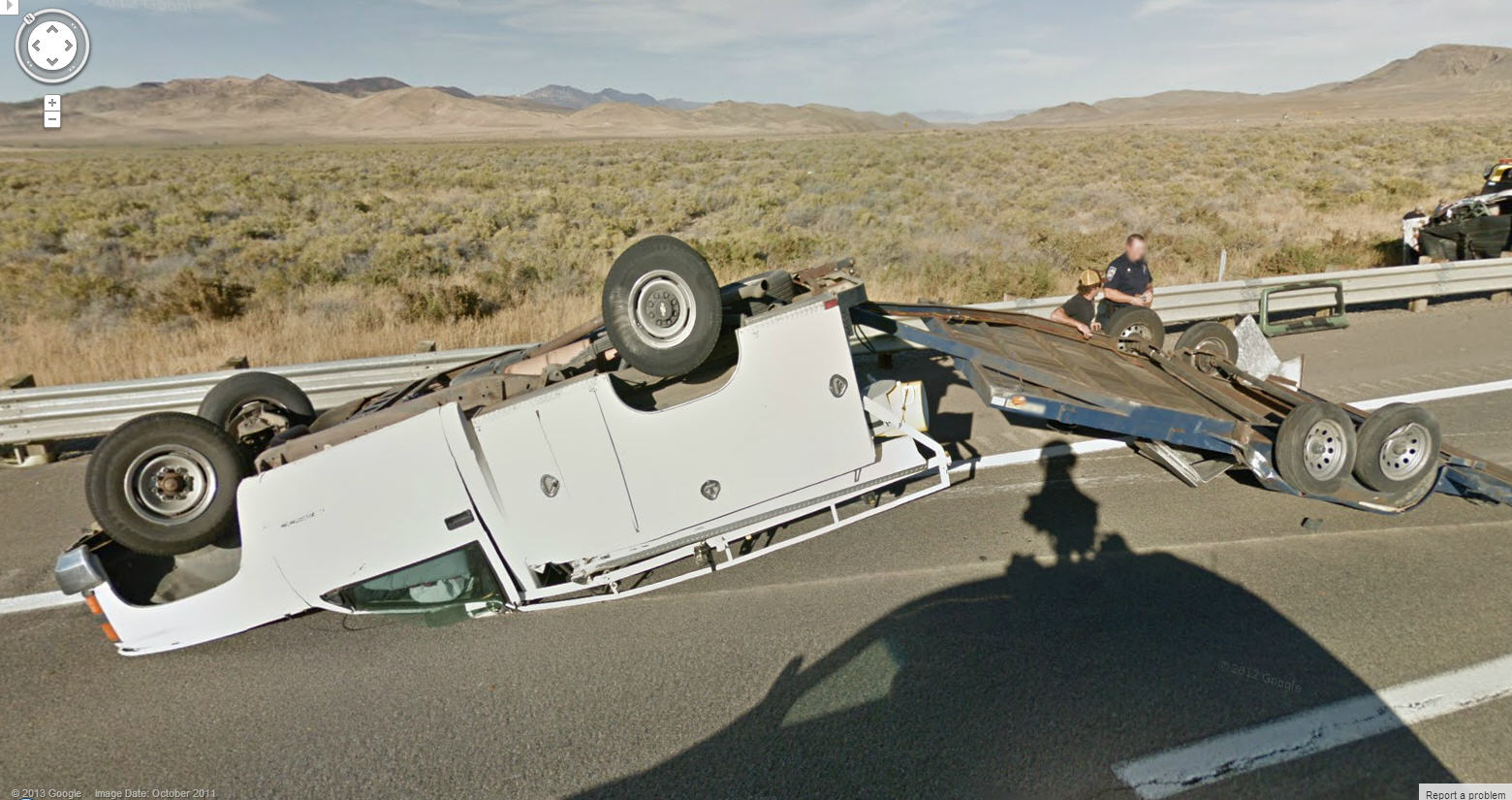 Nasty Accident in the Middle of Nowhere, Nevada
