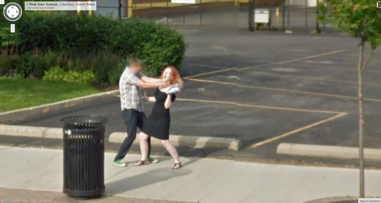 Google Street View Captures Another Strangling in Process