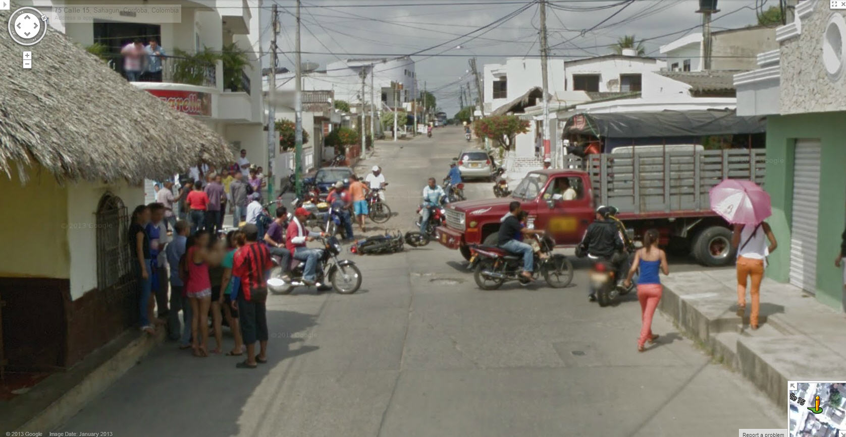 Another Motorcycle Accident in Colombia
