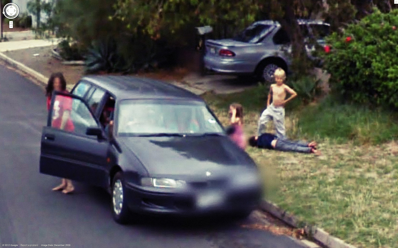 Kids Fight While Mom Stands By