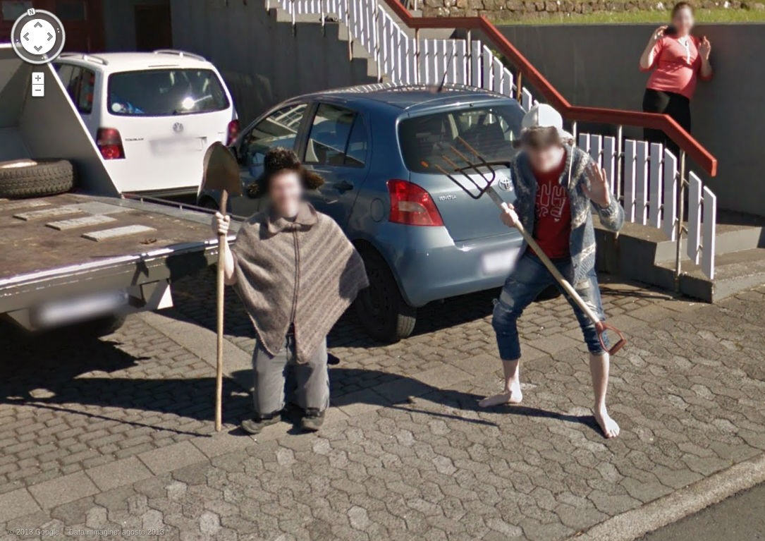 Looks like the locals don't care for Google Street View