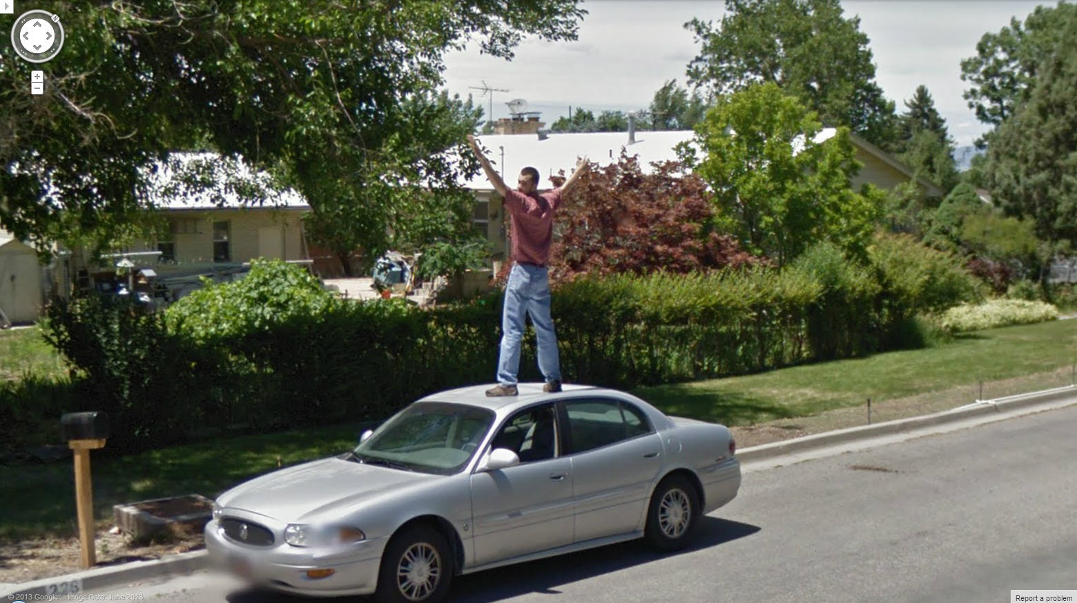 Posing for Google Street View