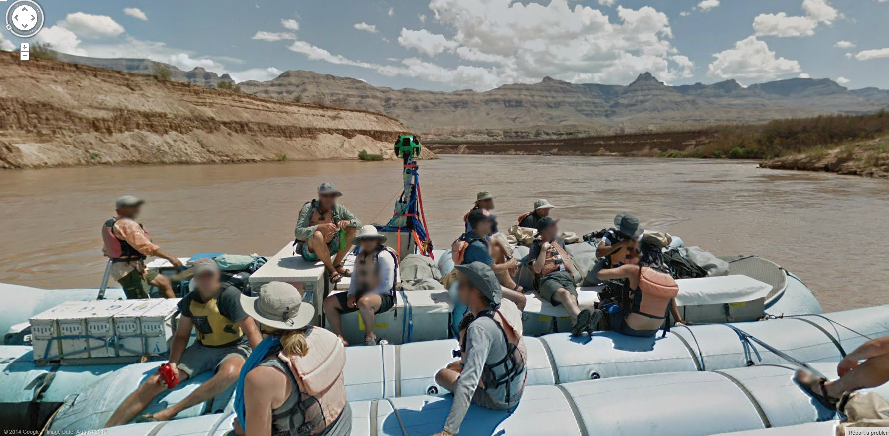 Great Shot of the Google Street View team on the Colorado River
