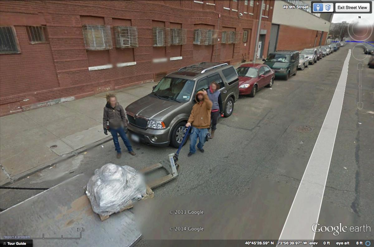 Queens Dude Giving Google Street View the Finger