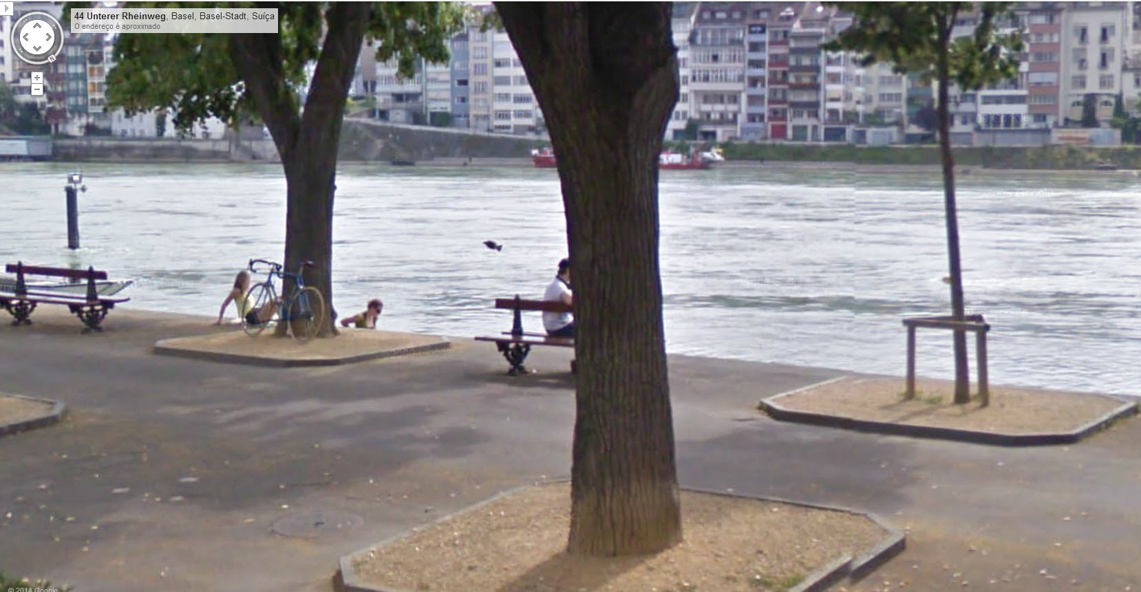 Did Google Street View capture a fish jumping?