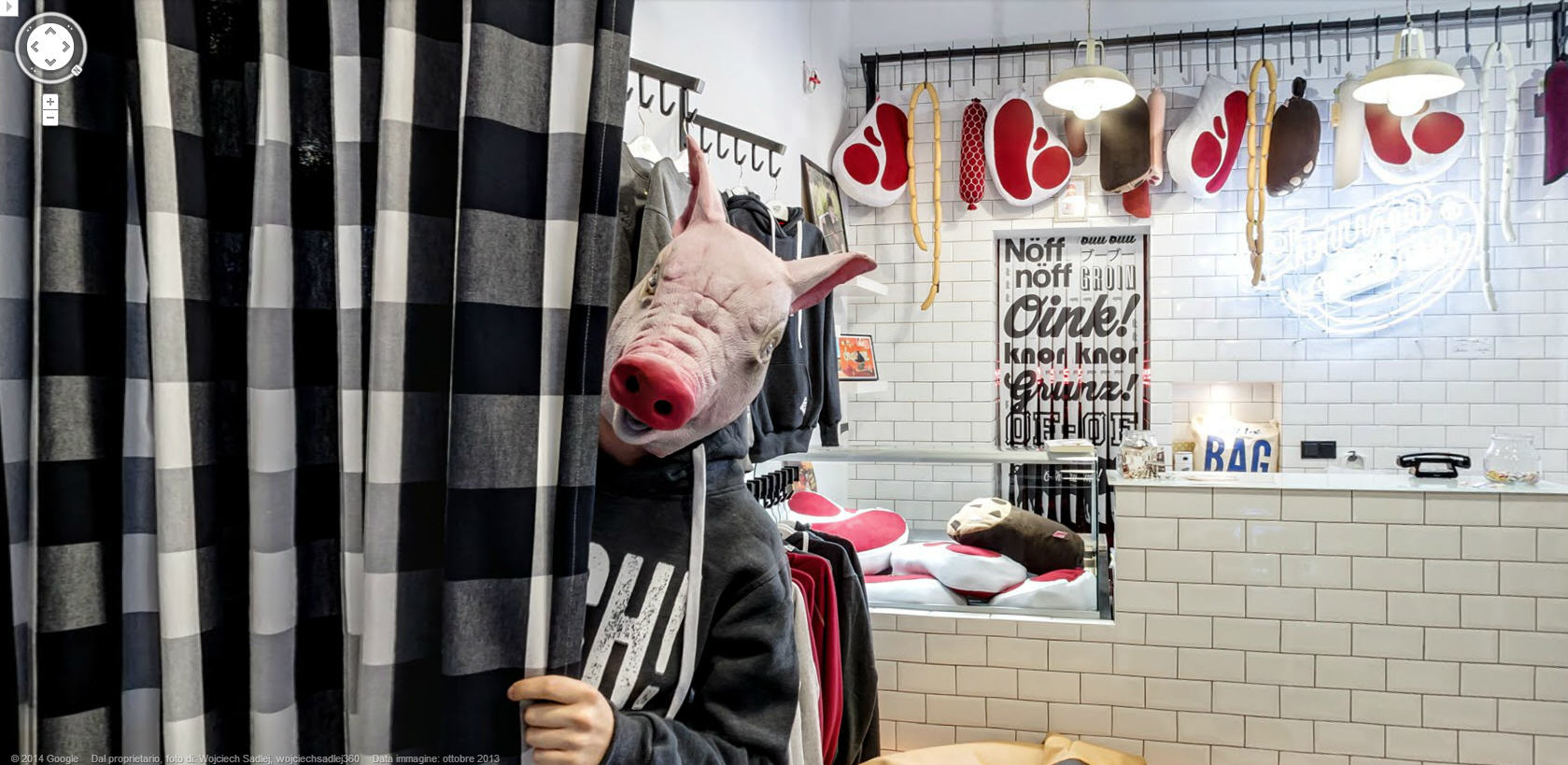 Pig Boy – Perhaps a new Google Street View trend?