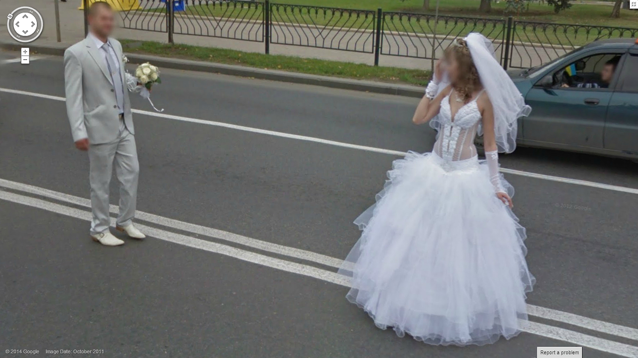 Odd place for a wedding photo