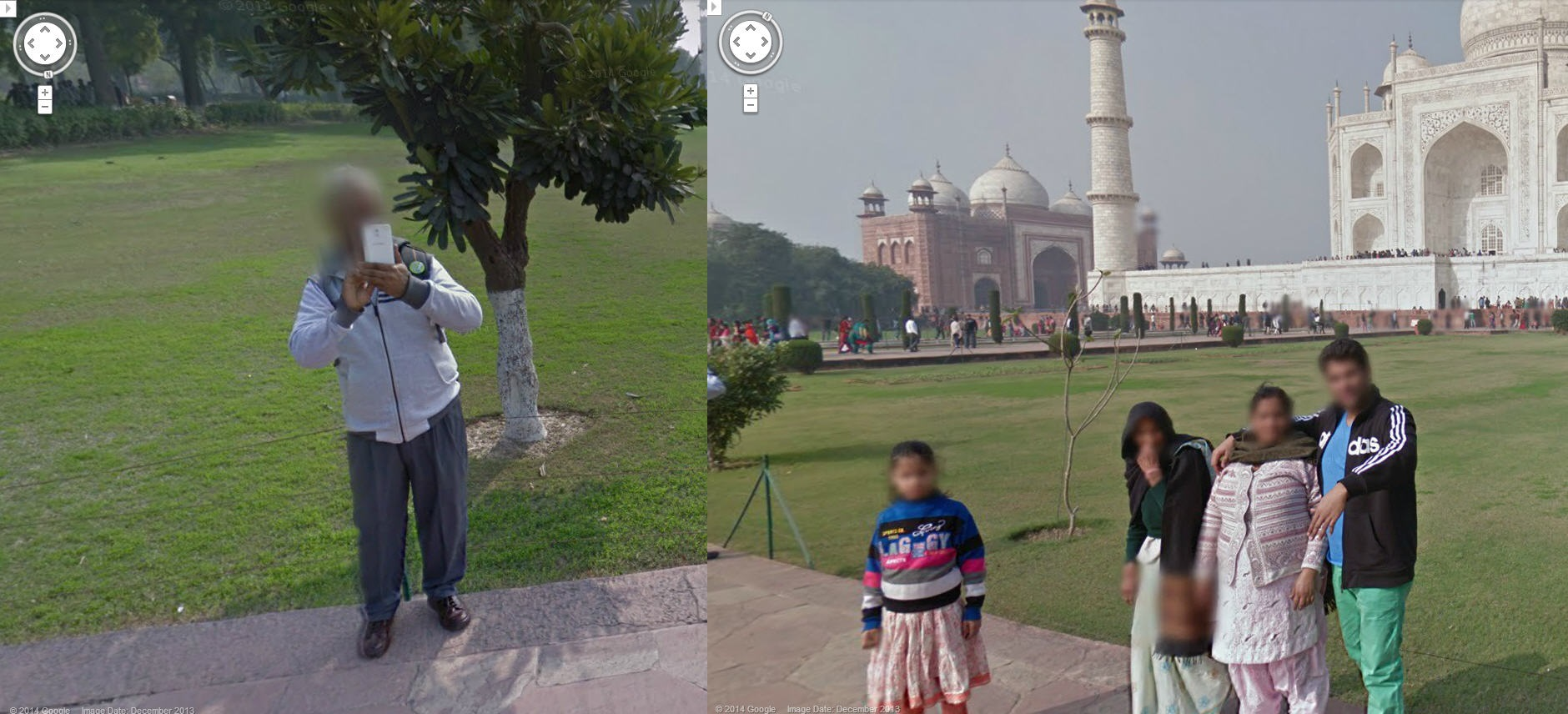Taj Mahal Google Street View Photo Bomb
