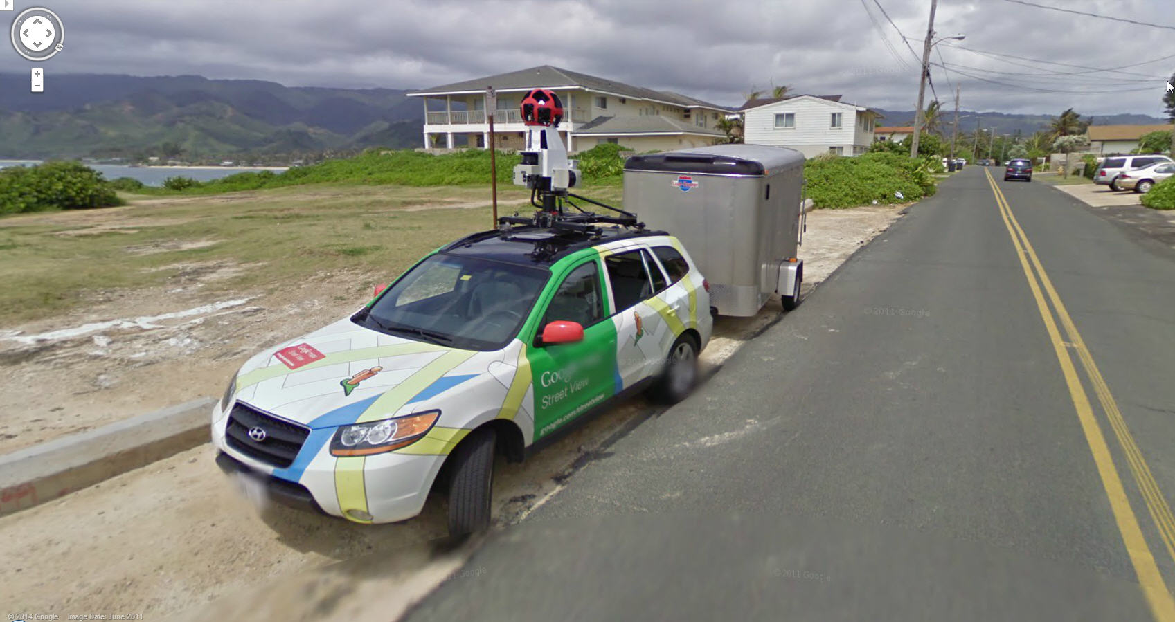 Nice shot of the Google Street View Rig