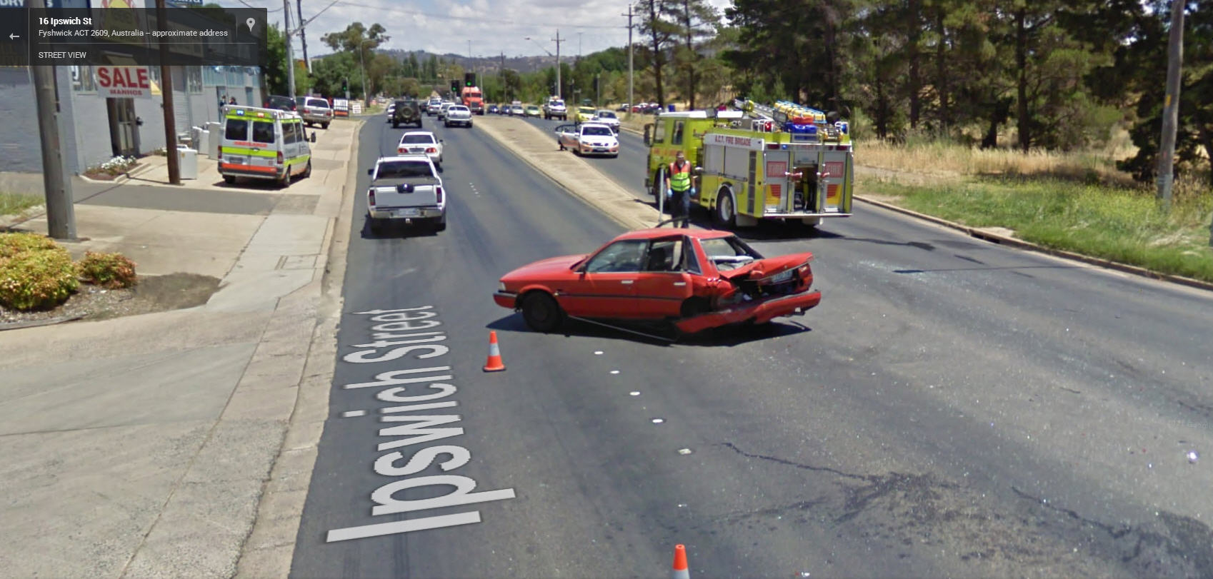 Another Australian Accident Captured by Google Street View