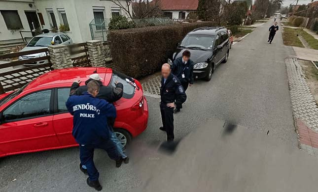 Priceless – Arrested via Google Street View