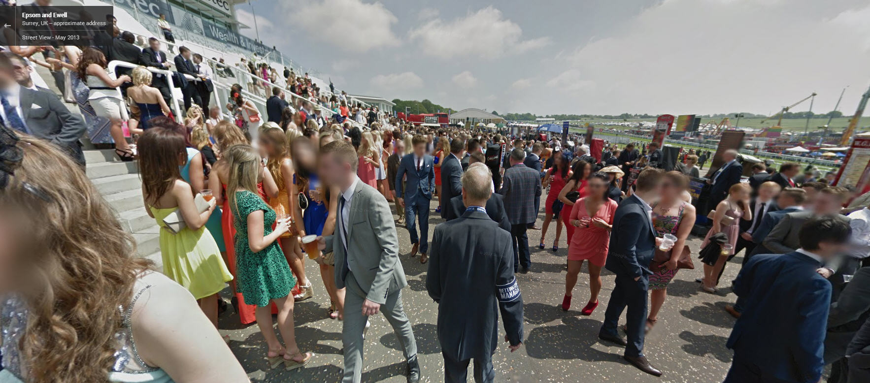 Wedding?  Nope, Just a day at the Epsom Downs Racecourse