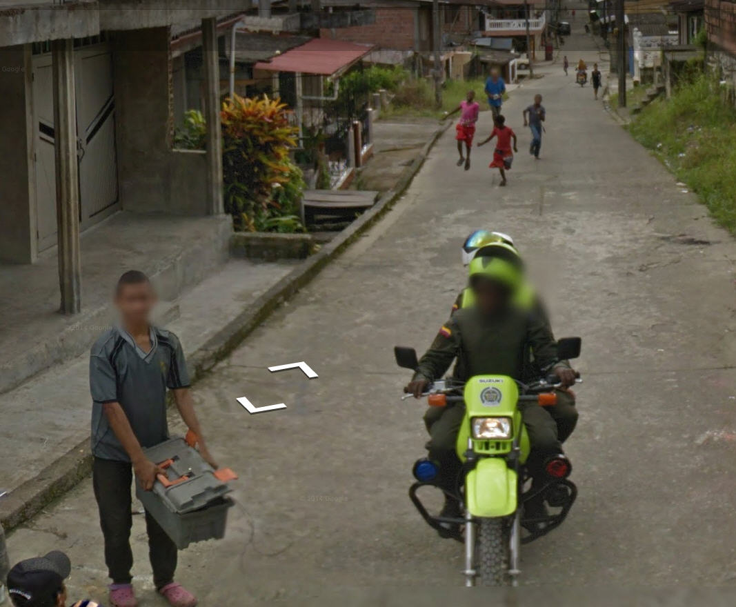 Who's more interested in street view – the boys in the back, or the police?