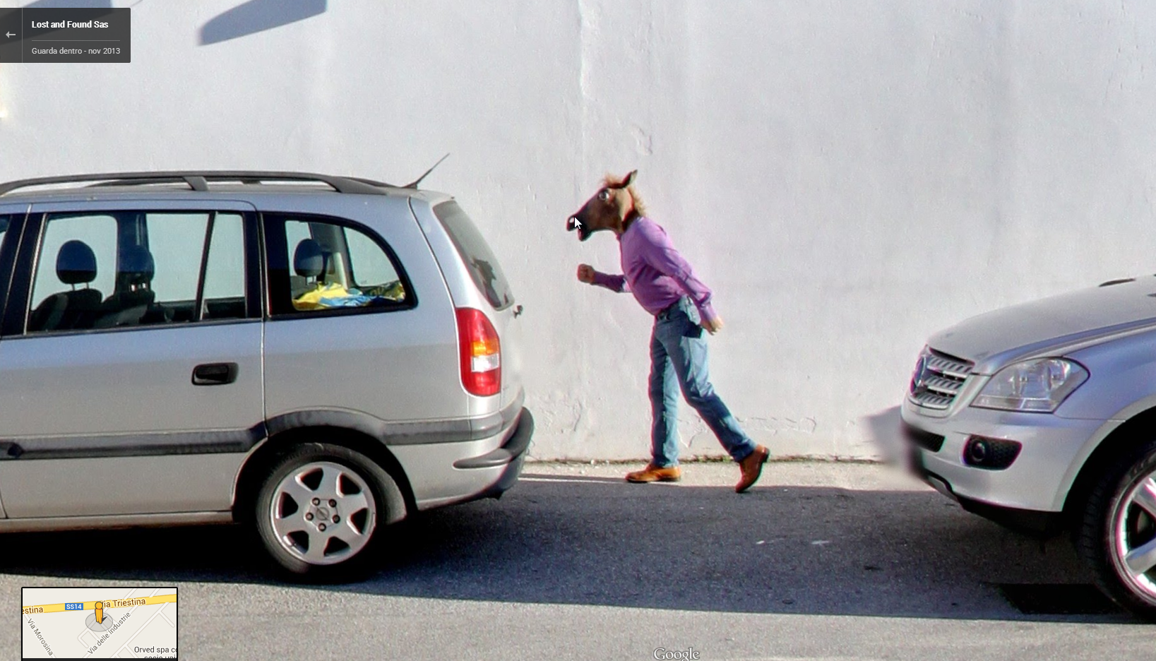 Yet another Horse Boy appearance on Google Street View