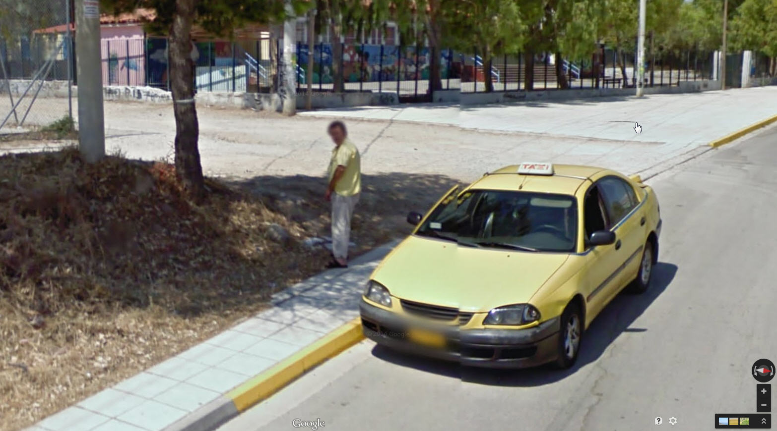 First Pee Shot from Street View Greece