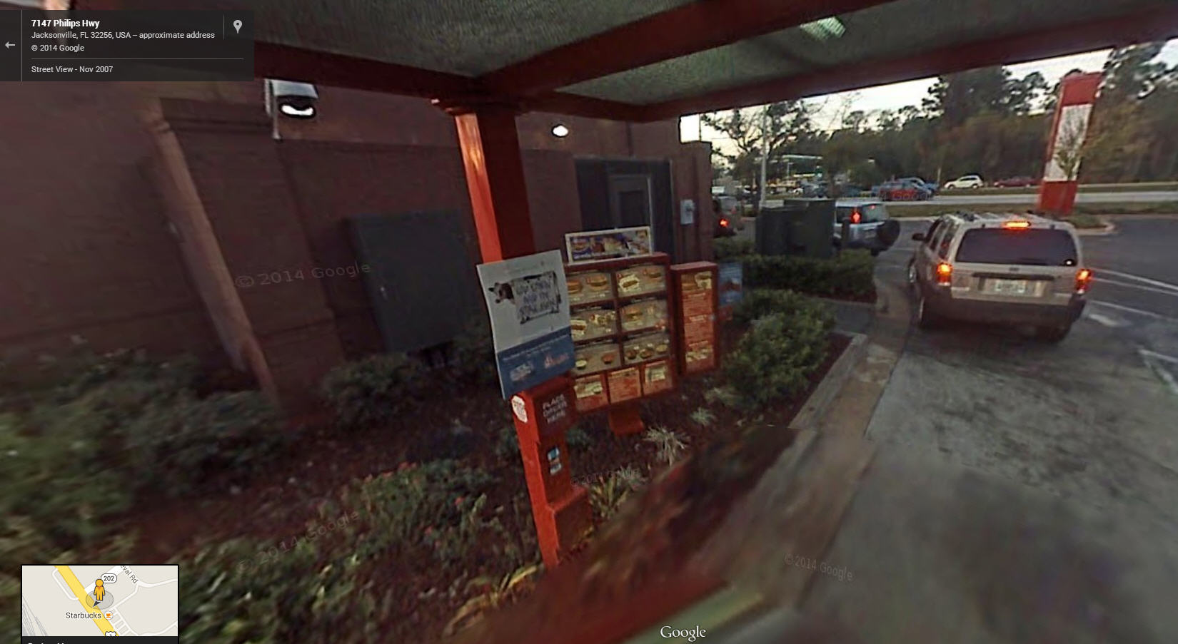Google Street View Captures the Chick Fil A drive thru experience…