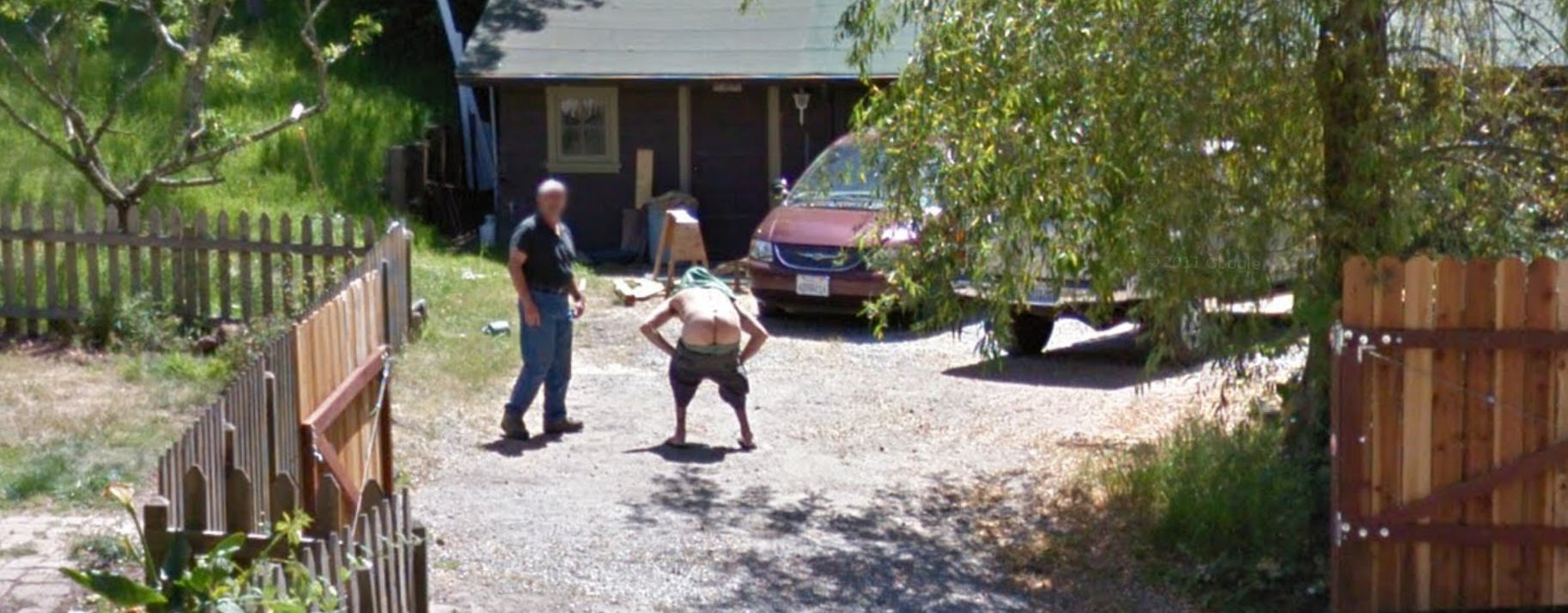 Yet another Full Moon on Google Street View
