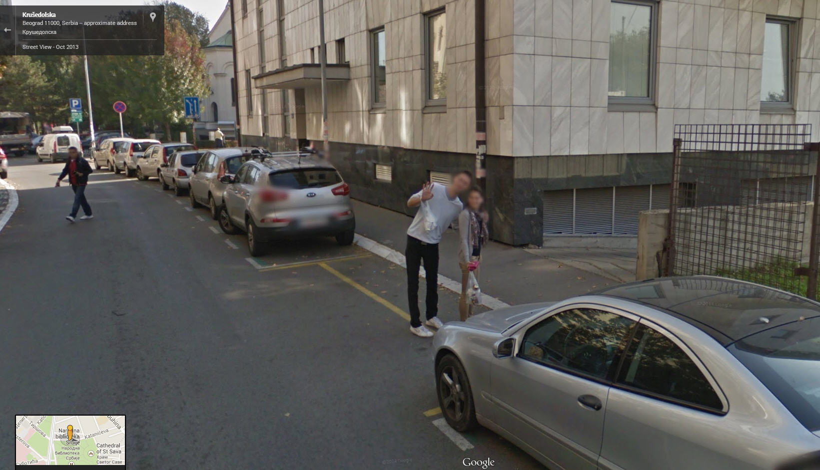 This is a great Google Street View Pose!