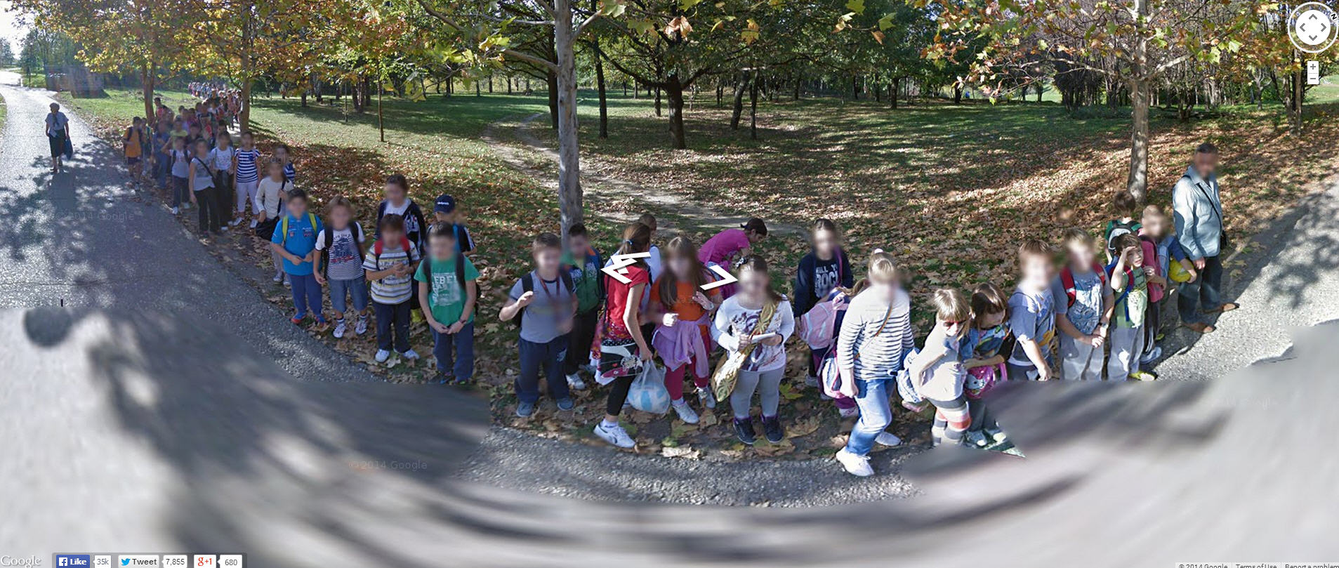 So nice of these kids to come out and pose for Google Street View
