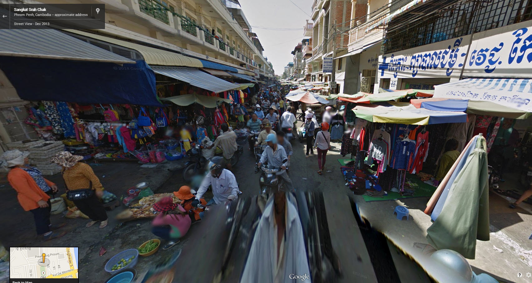 Google Street View Cambodia Now Available