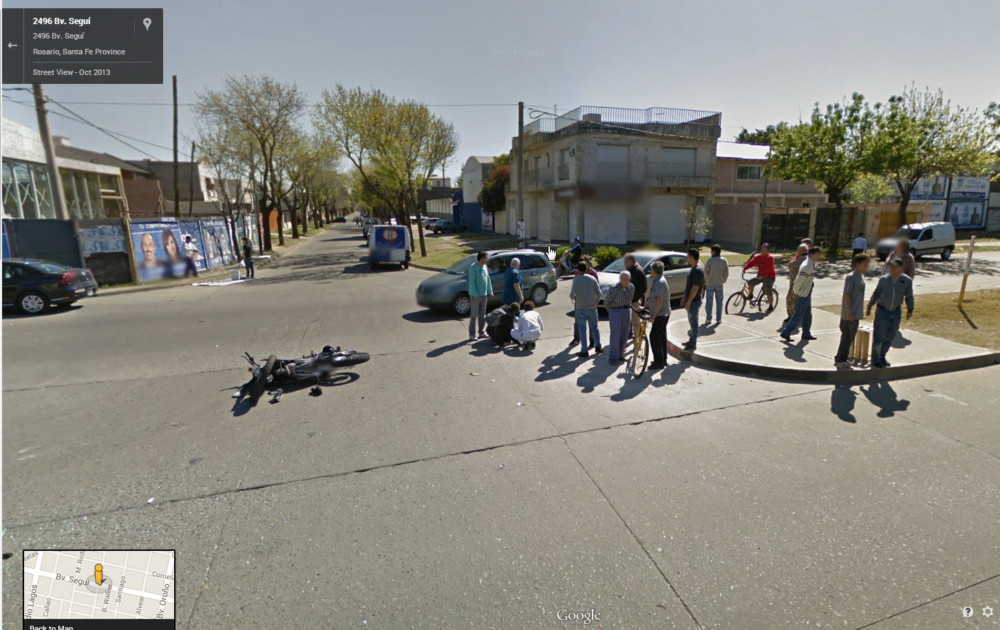 Another Accident captured by Google Street View Argentina