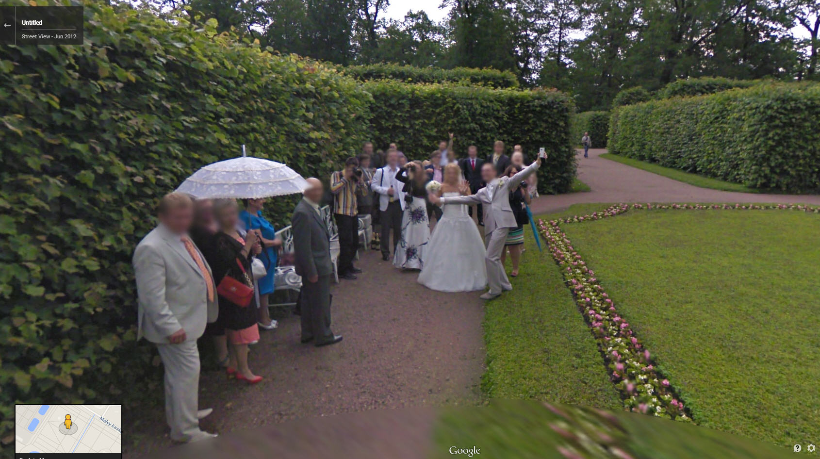 Bonus wedding coverage care of Google Street View Russia