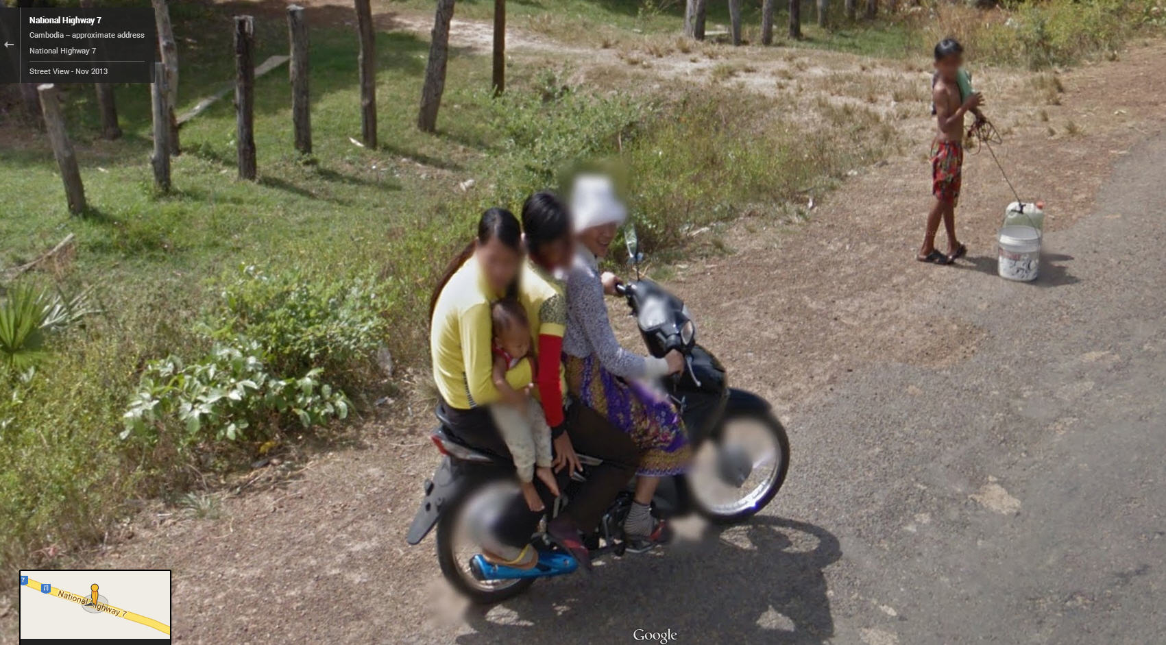 This how they roll in Cambodia
