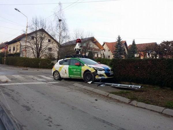 Google Street View Car Crash in the Balkans