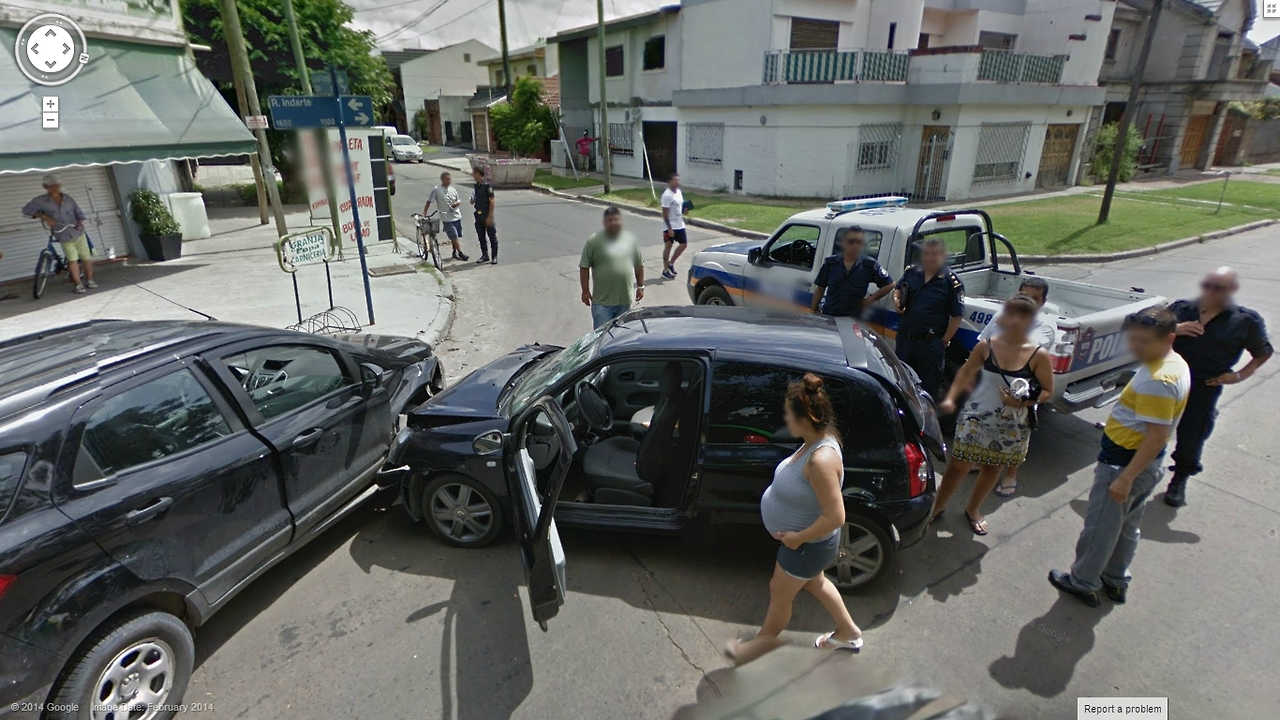 Another Fender Bender Captured by Google Street View