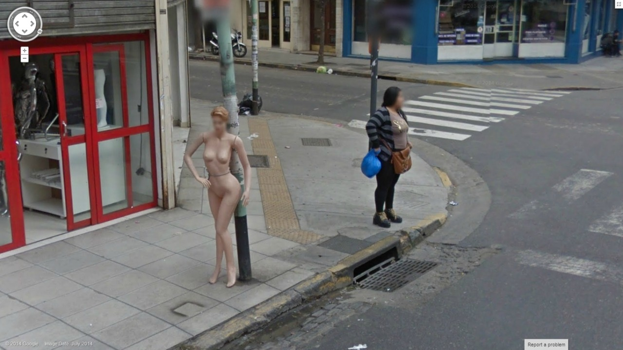 Naked girl on google maps