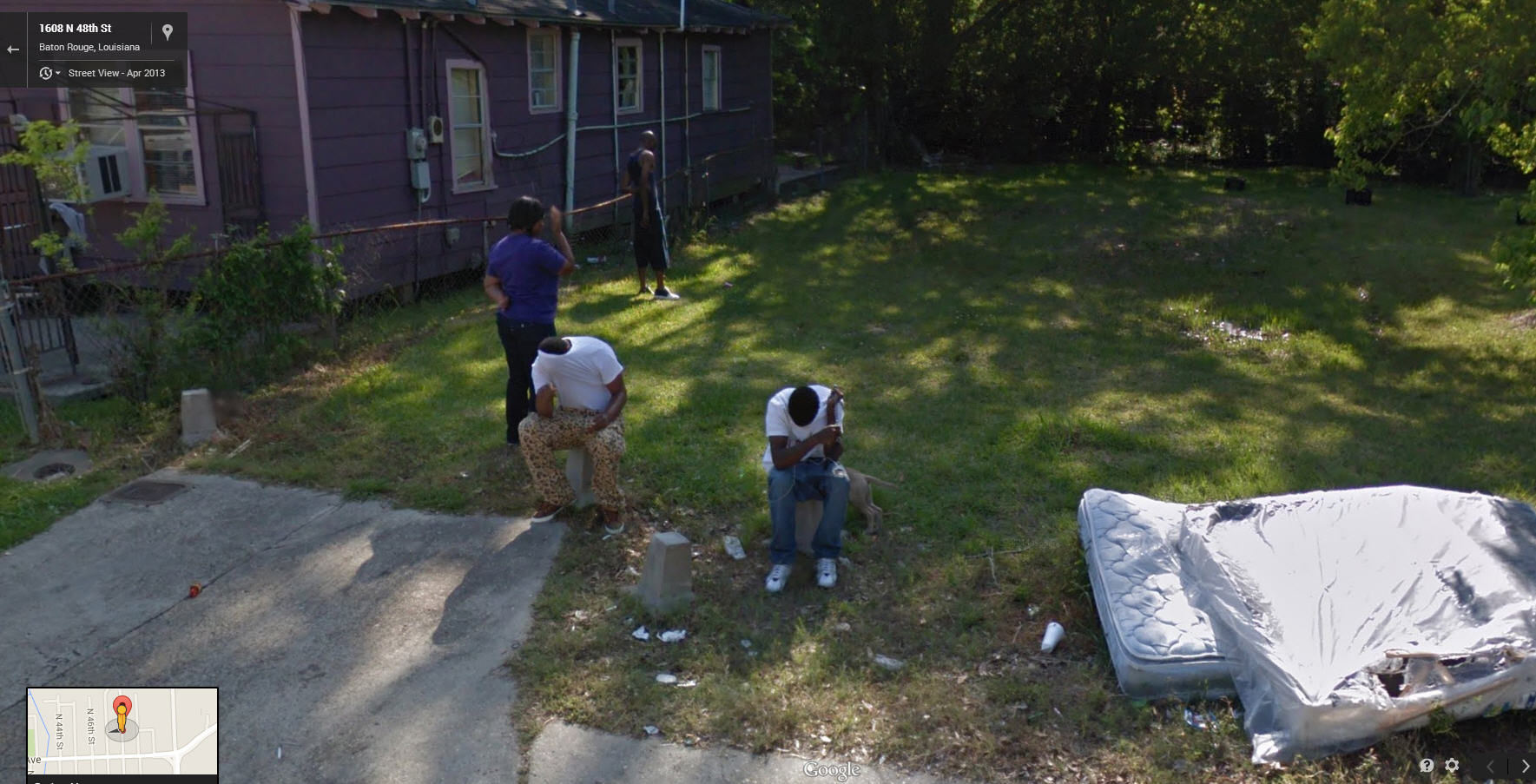 These guys don't trust Google Street Views Blurring Technique