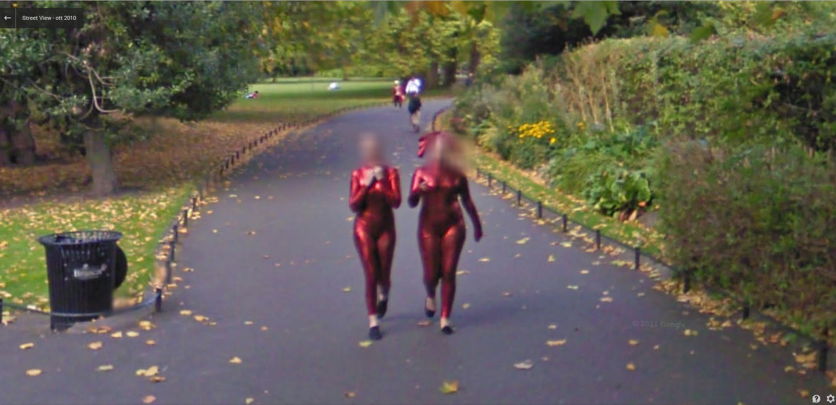 Aliens going for a stroll in an Irish park