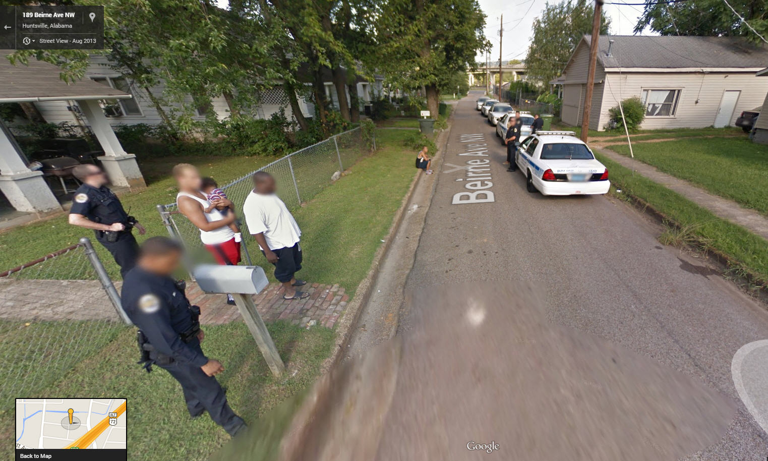 police arrest care of google street view google street. Black Bedroom Furniture Sets. Home Design Ideas