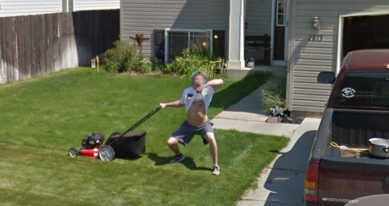 Google Street View Lawnmowing Flasher