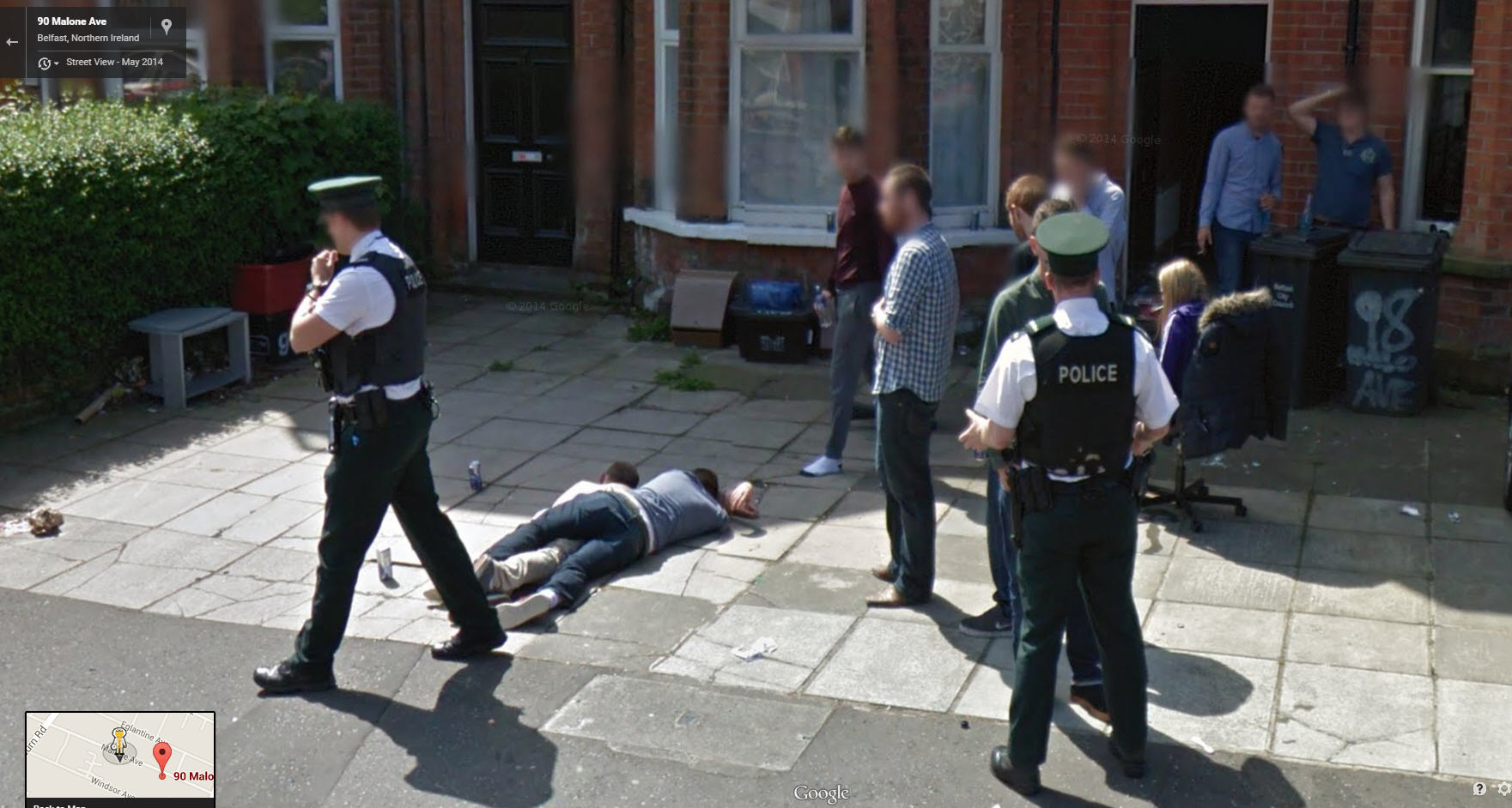 cozy irish lads google street view world funny street. Black Bedroom Furniture Sets. Home Design Ideas
