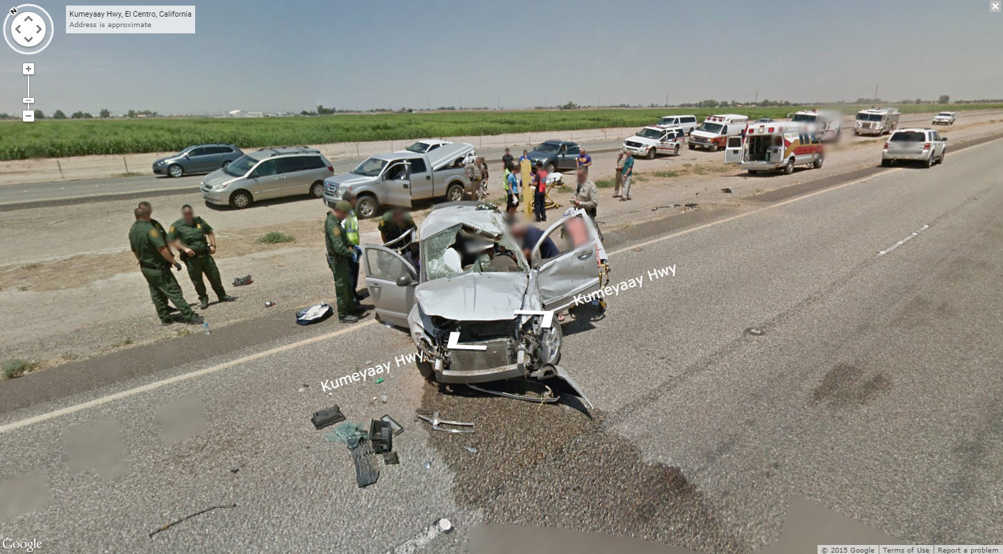 Yet another bad accident captured by Google Street View!